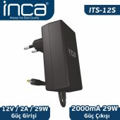 ınca Its 12s 2.5mm 12v 2a Universal Tablet Şarj Adaptörü