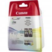 Canon Pg 510 Cl 511 Siyah Ve Renkli İkili Paket Mürekkep Kartuş Orijinal Ürün