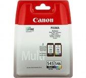 Canon Pg 545 Cl 546 Siyah Ve Renkli İkili Paket Mürekkep Kartuş Orijinal Ürün