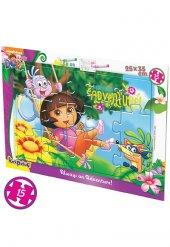 15 Parça Lisanslı Boyana Bilen Dora Karton Puzzle Seti 8909