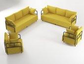 Wood House Ahsen Oturma Grubu Sarı