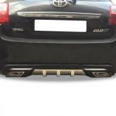 Toyota Auris Egzoz Görünümlü Arka Tampon Eki Difüzör (Plastik)