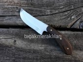 Av Bıçağı El İşçiliği 20cm 3mm Çelik Kök Ceviz Sap...