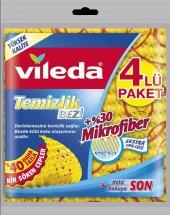 Vileda Düz Mikrofiber Temizlik Bezi 4lü