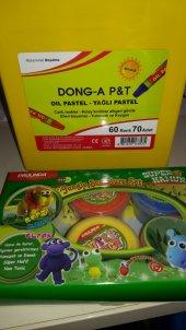Dong A 60+10 Renk Yağlı Pastel Boya+ 6 Lı Proje Hamuru Hediyeli
