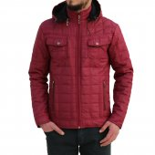Erkek Mont Kaban Slim Fit Bordo Rar00161