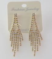 Frilly Taşlı Küpe Gold (Fkkp109)