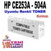 Hp Cp3525 Cm3530 Uyumlu Kırmızı Toner Ce253a 504a
