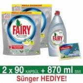 Fairy Platinum 180 Ad. Bulaşık Makinesi Deterjanı Kapsülü Limon