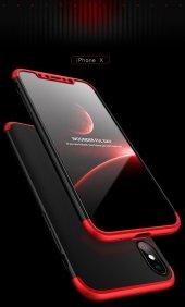 Apple İphone X Ays Tam Koruma Kılıfı 360 Derece Koruma Kapak +cam