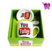 Youtube Logolu Kupa Bardak Takımı