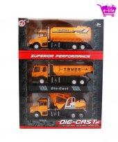 Die Cast İş Makineleri Modeli & Biblo (3 Lü Set)