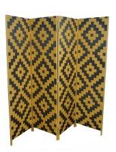 Ikizler Hasır Örme Paravan Çift Taraflı Dört Kanatlı 200cm Genişlik 16844