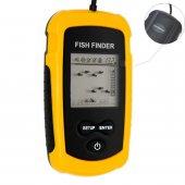 Venterior Portable Fish Finder, Fishfinder With Wired Sonar Senso