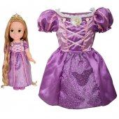Disney Prenses Rapunzel Kostümlü Ve Bebek Seti 2 4 Yaş