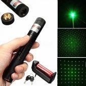 Profesyonel Şarjlı Yeşil Laser Pointer 15 Km Etkili