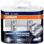 Osram H1 Night Breaker Unlimited 110 Fazla Işık