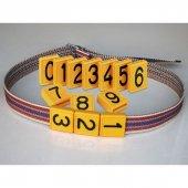 Büyükbaş Hayvan Boyun Numarası Takımı 1&#039 Den 50&#039 Ye Kadar