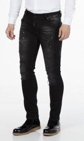 Denim Pier Yırtıklı Slim Fit Erkek Pantolon