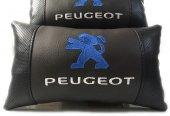 Peugeot Boyun Yastığı Deri Lüks 2 Adet Terletmez Fermuarlı