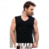 3lü Paket Erdem 1118 100 Pamuk Kolsuz V Yaka Erkek T Shirt