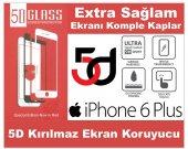 Iphone 6 Plus 5d Komple Kavisli Kırılmaz Full Cam Ekran Koruyucu