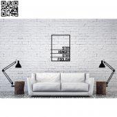 Dekoratif Ahşap Duvar Tablosu 523
