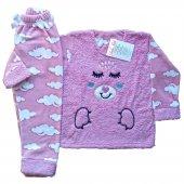 Dobakids Kız Çocuk Pamuklu Polar Pijama Takımı 4 9 Yaş