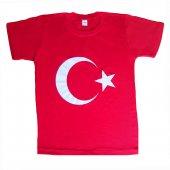 Dobakids Türk Bayrak Baskılı 23 Nisan Unisex Erkek Çocuk Tişört