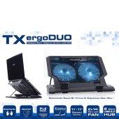 Tx Txacnbergduo Ergoduo 11 17 14cm Dual Led Fanlı Notebook Soğutu