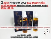 2 Adet Proderm Gold Saç Bakım Yağı(Siyah Sarımsak+keratin)150 Ml