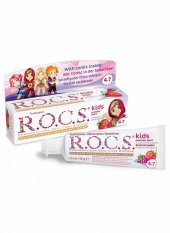Rocs Kids 4 7 Yaş Ahududu Çilek Diş Macunu Yaz Esintisi