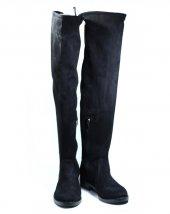 Siyah Süet Streç Çizme