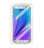 Samsung S6 Edge Plus Ön Arka Full Body Ekran Koruyucu Cam Şeffaf