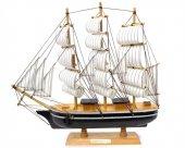 Yelkenli Ahşap Maket Gemi 16cm