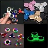 Stres Çarkı Hand Spinner Metal Led Işıklı Fosforlu Anında Gönderi