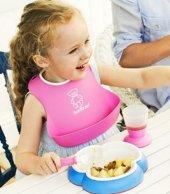 Dökülmelere Karşı Önlük Plastik Bebek Mama Yemek Önlüğü