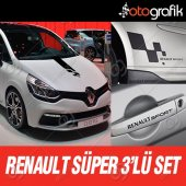 Otografik Renault Sport Süper 3lü Sticker Seti