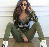 Kadın Yeşil Eşofman Takım Bayan Eşofman Takım