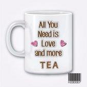 Kupa Bardak Baskı Love Tea
