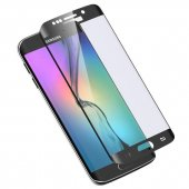 Samsung Galaxy S6 Edge 3d Kavisli Kırılmaz Cam Tam Kaplama Ekran