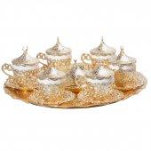 Gelincik 6 Kişilik Kahve Seti (Tepsi Ve Şekerlik Hediye) Sarı