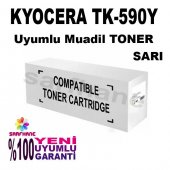 Kyocera Tk 590y Sarı Muadil Toner Fs C2026 C2126 C2526 C5250 P602