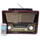 Everton Şarjlı Nostaljik Bluetooth Radyo Müzik Çalar Bt Usb Tf Au