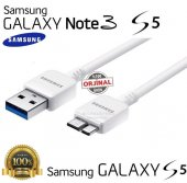 Samsung Galaxy Orjinal Note 3 S5 Usb Şarj Aleti Kablosu Kablo