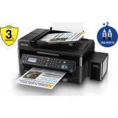Epson L565 Tanklı A4 Renkli Yazıcı Tarayıcı Fax Adf Ethernet Wifi
