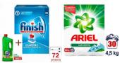Finish Tablet 72 Li + Domestos Dağ Esintisi 2000 Gr +ariel Toz Çamaşır Deterjanı Dağ Esintisi 4,5 Kg