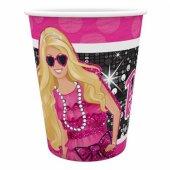 Barbie Lisanslı Karton Bardak 8 Adetli