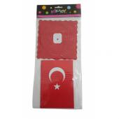 Kağıt Zincir Süs Bayrak Kf065