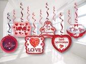6lı Sevgiliye Doğum Günü Seni Seviyorum Süsleri, Yaylı Set